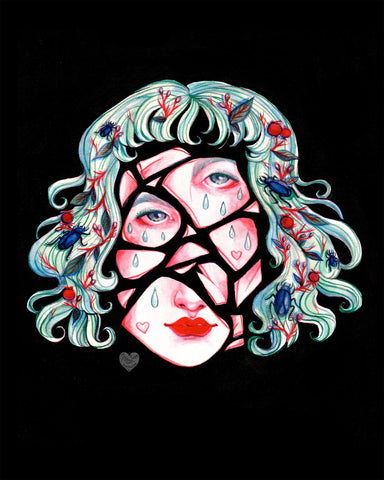 BROKEN DOLL FACE 8x10 Print