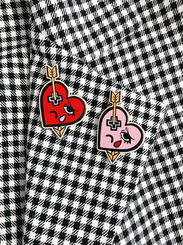 HEARTACHE Wooden Pin