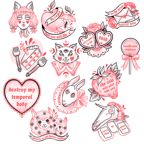 Cute Nihilist Sticker Pack