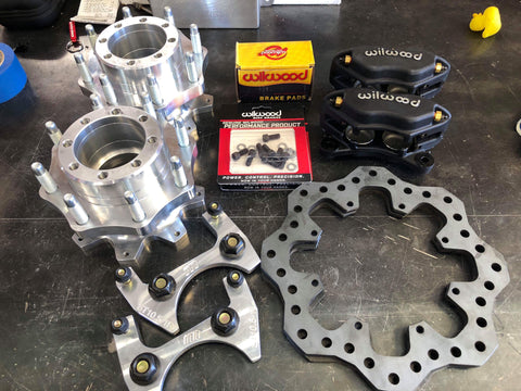 REAR BILLET STERLING HUBS for 10.5,     2005 & up, F250 and F350 SRW