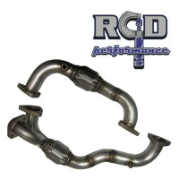 6.4L FORD 304 SS HEAVY WALL UP PIPE SET WITH EGR PROVISION