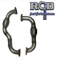 6.4L FORD 304 SS HEAVY WALL UP PIPE SET W/O EGR PROVISION