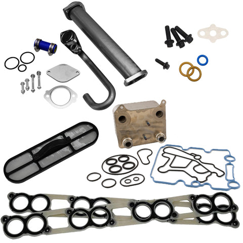 POWERSTROKE SOLUTION (EGR RACE TRACK KIT, OIL COOLER AND INTAKE GASKETS)