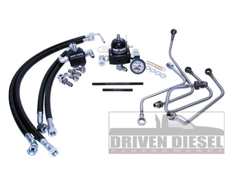 DRIVEN DIESEL FUEL BOWL DELETE REGULATED RETURN KIT - FORD 6.0L 2003 - 2007