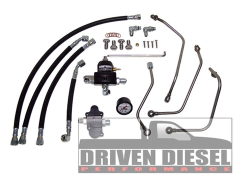 DRIVEN DIESEL REGULATED RETURN KIT - FORD 6.0L 2003 - 2007