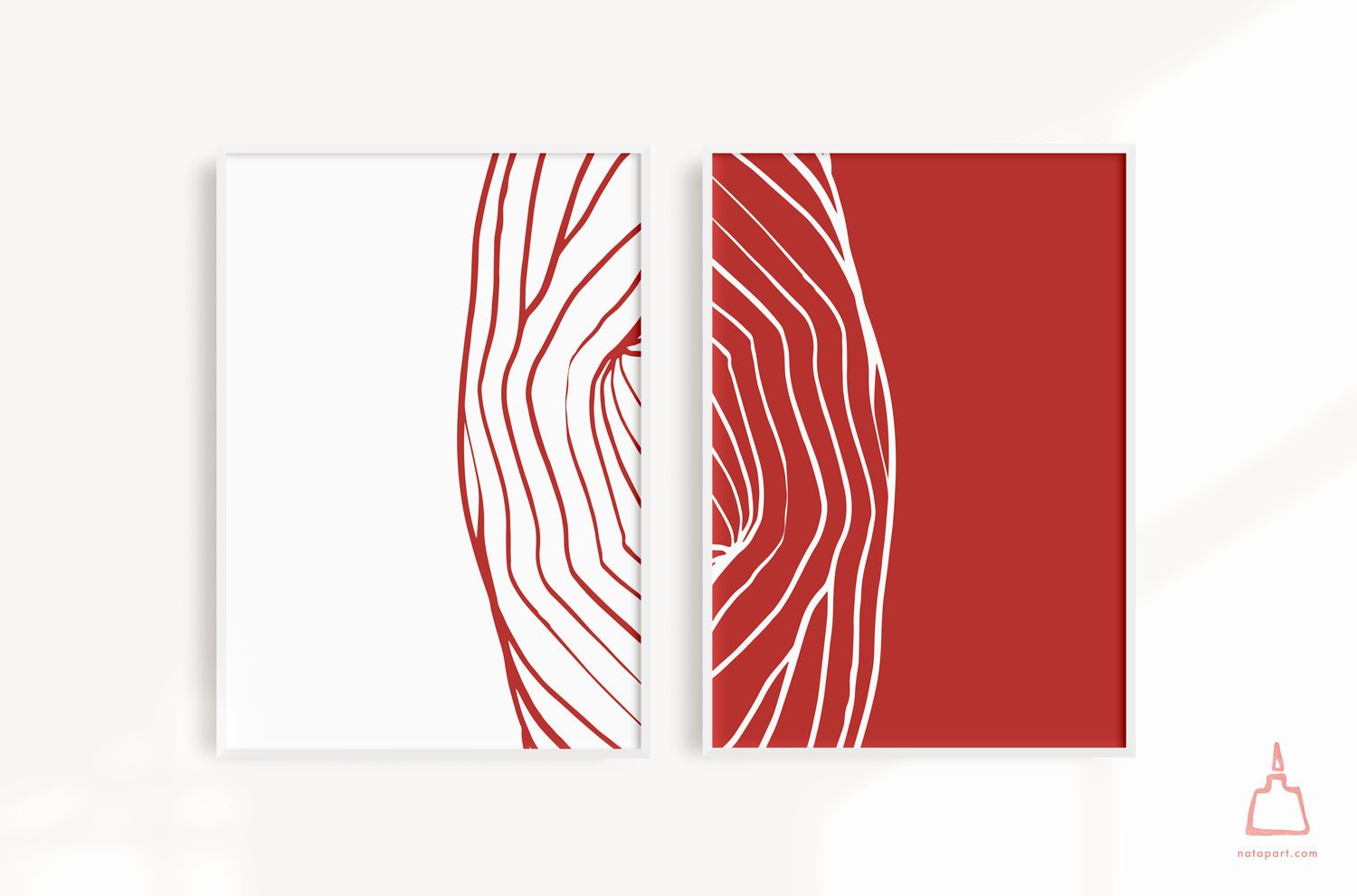 SET OF 2 ULURU LINES A PRINTABLE ART