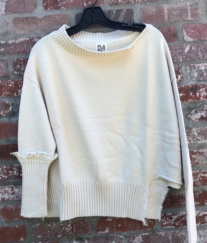 PLANET RIBBED SWEATER