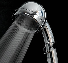 amane eco Stop-Lever Shower Head Chrome/White ✅ extra Water Saving