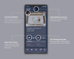 features of the baby monitor app