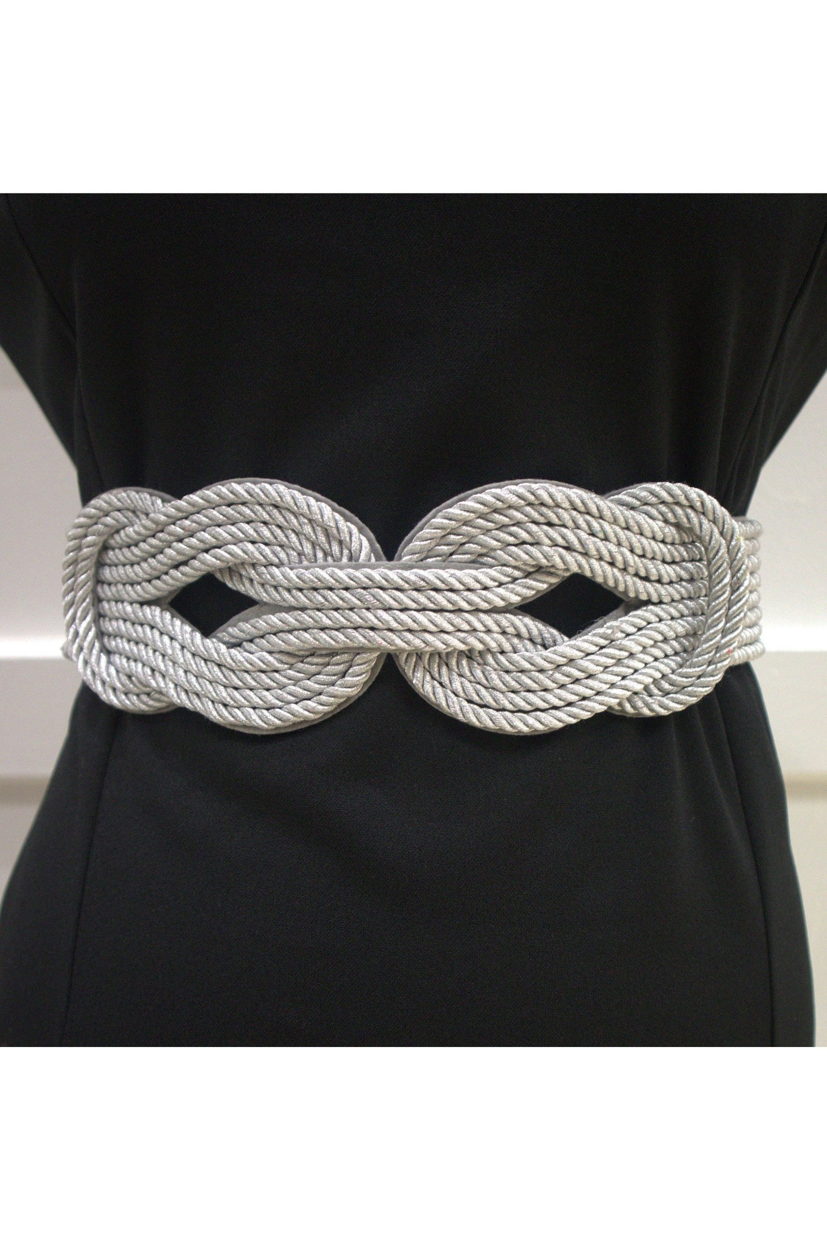 Cinch Waist Belt - Double Knot Silver