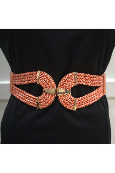 Cinch Waist Belt - Coral