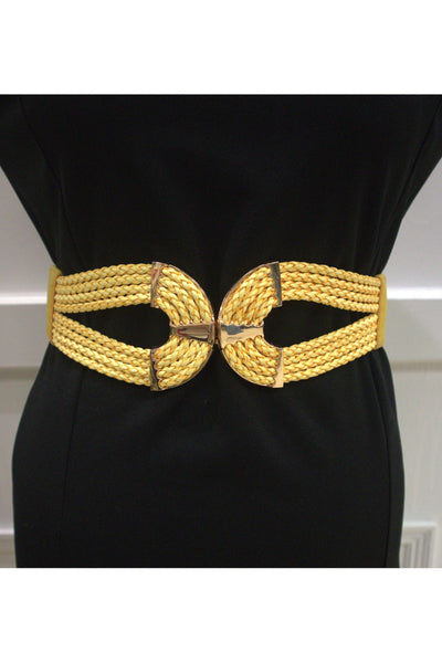 Cinch Waist Belt - Yellow
