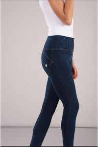 Denim Yellow Stitch High Waist Freddy