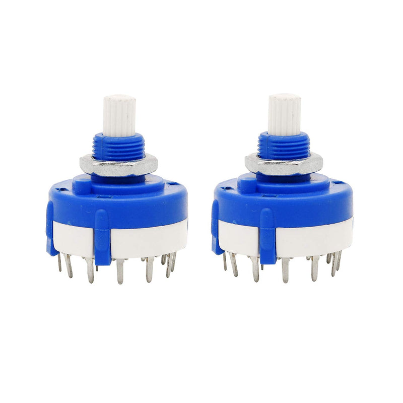 Rotary Switch 1 Pole 7 Way/Position Wire Selector  (Pack of 2)