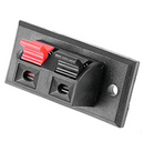 2 Way/Pole Speaker Terminals Socket/Block/Connector With Push Release/Insert Spring Loaded Mechanism