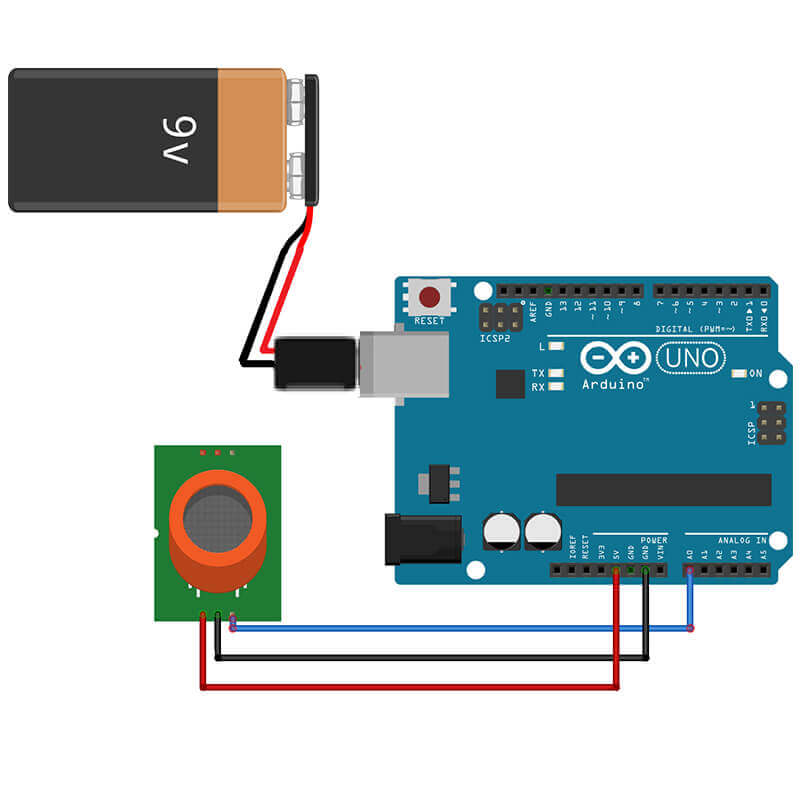 Connecting MQ 9 with Arduino