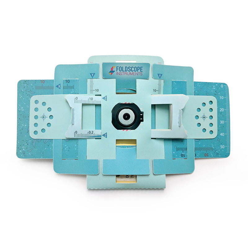 Foldable DIY Paper Foldscope (Microscope Basic Kit)