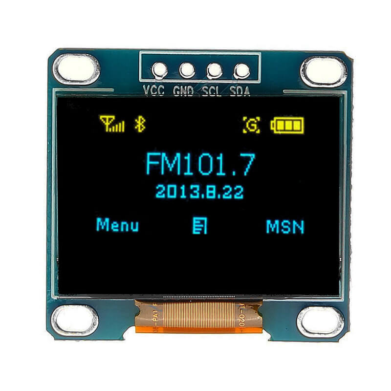 0.96 inch OLED Display Blue Screen