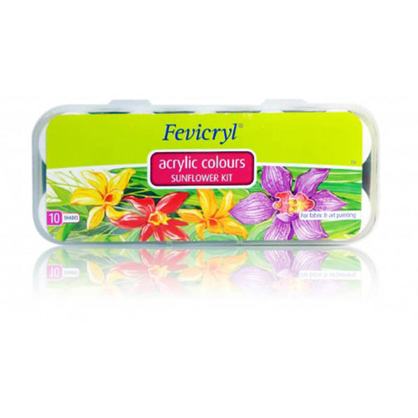 Fevicryl Acrylic Colours Sunflower Kit 10 Shades