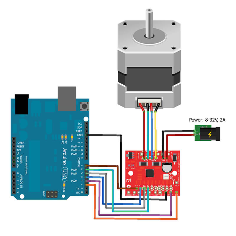 Connecting Arduino to Stepper Motor IC A4998