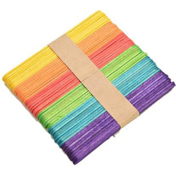 Colourful Popsicle Sticks for Craft (Pack of 50)