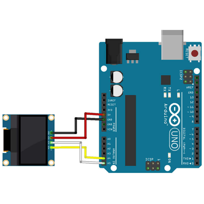 how to connect oled to arduino?