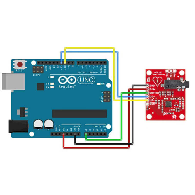 AD8232 ECG Heart Monitoring Sensor Module for Arduino