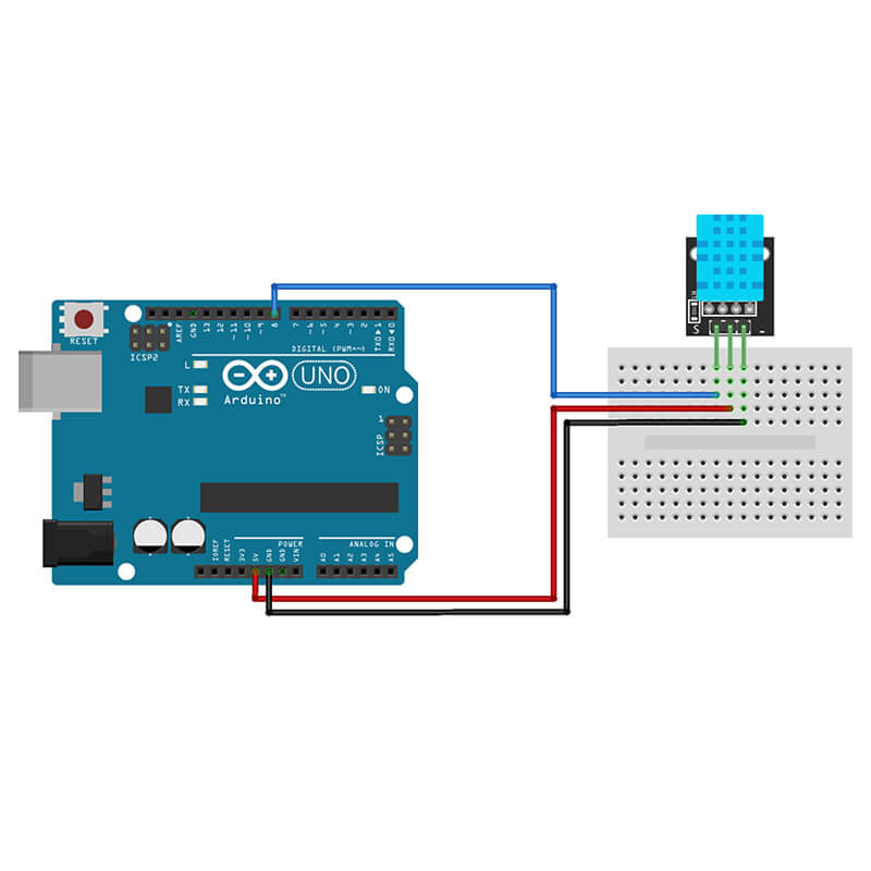 Temperature Humidity Sensor DHT11 Arduino | Makerware