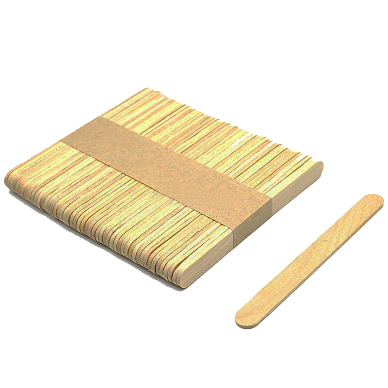 Wooden Popsicle Stick Premium Quality  (Pack of 50)