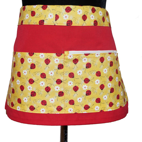 Teacher Apron - Vendor Apron - School Teacher Apron with Pockets - Ladybug Pattern,Apron,CotswoldDownsCrafts,CotswoldDownsCrafts