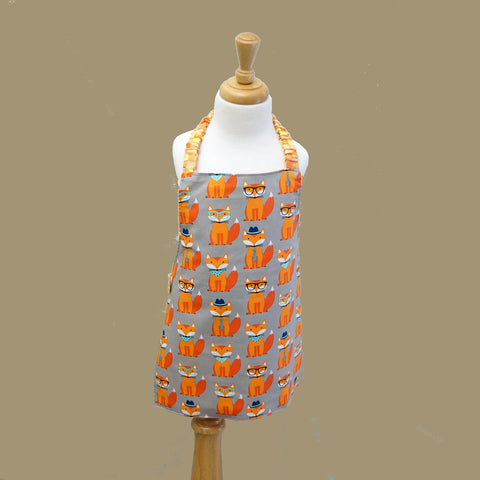 Childrens Apron in a Happy Fox pattern from Whimsly,Apron,CotswoldDownsCrafts,CotswoldDownsCrafts