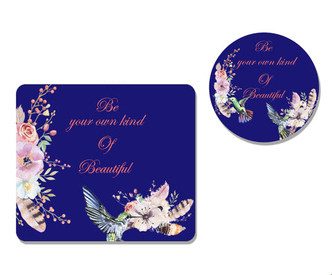 Be Beautiful Mousepad and Coaster Set,Mousepad,CotswoldDownsCrafts,CotswoldDownsCrafts