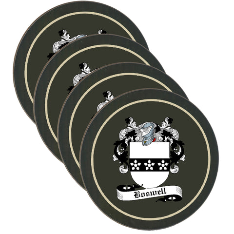 Boswell Clan Coat of Arms Drinks Coaster - Set of Four,Clan coaster,CotswoldDownsCrafts,CotswoldDownsCrafts