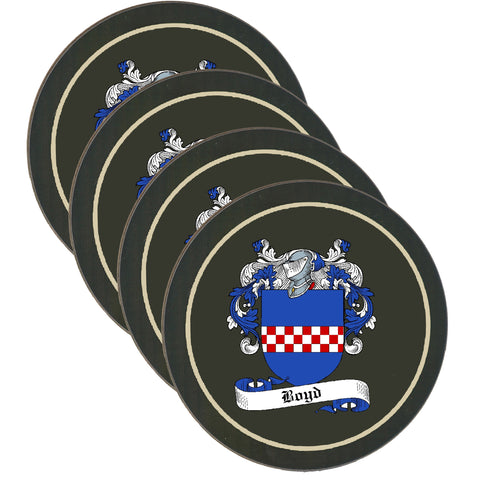 Boyd Clan Coat of Arms Drinks Coaster - Set of Four,Clan coaster,CotswoldDownsCrafts,CotswoldDownsCrafts