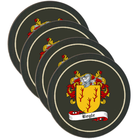 Boyle Clan Coat of Arms Drinks Coaster - Set of Four,Clan coaster,CotswoldDownsCrafts,CotswoldDownsCrafts