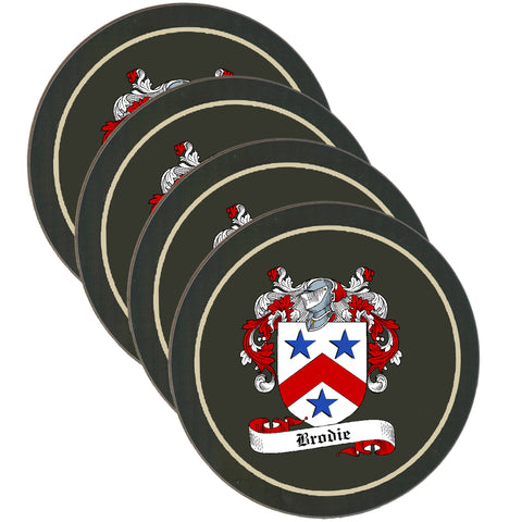 Brodie Clan Coat of Arms Drinks Coaster - Set of Four,Clan coaster,CotswoldDownsCrafts,CotswoldDownsCrafts