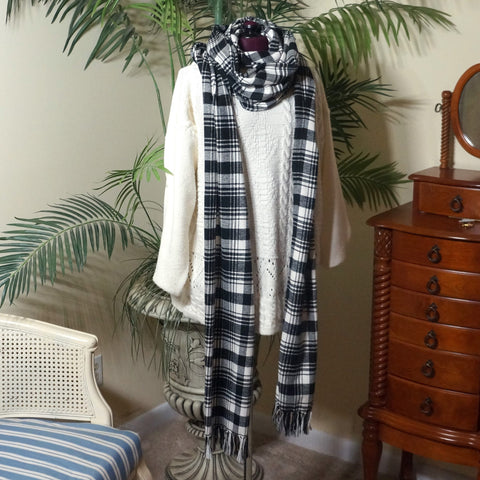 "Plaid scarf - super long ""Dr Who"" style,Scarf,CotswoldDownsCrafts,CotswoldDownsCrafts"