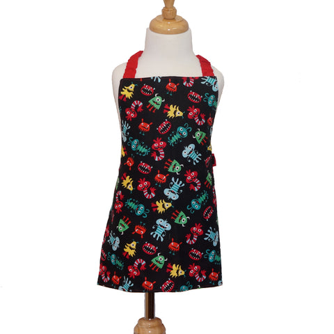 Childrens Kitchen Apron in a Spacey Monsters pattern from Whimsly,Apron,CotswoldDownsCrafts,CotswoldDownsCrafts