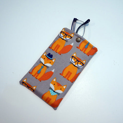 Fabric Friendly Fox Eyeglasses Case - Fabric Friendly Fox Sunglasses Case - Phone Case,Eyeglass case,CotswoldDownsCrafts,CotswoldDownsCrafts