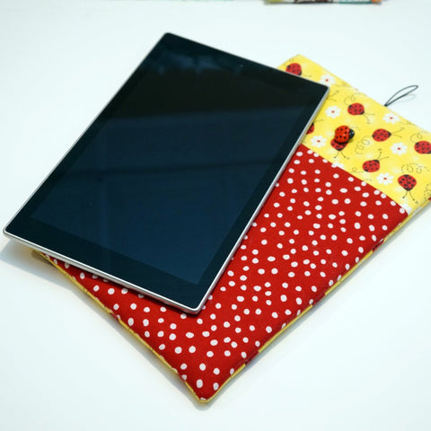 Apple iPad Tablet Sleeve - Custom Case For Your Apple Ipad Tablet - Cute Ladybug Print,Tablet sleeve,CotswoldDownsCrafts,CotswoldDownsCrafts