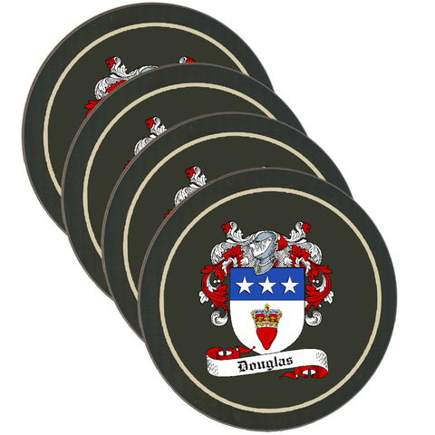 Douglas Clan Coat of Arms Drinks Coaster - Set of Four,Clan coaster,CotswoldDownsCrafts,CotswoldDownsCrafts