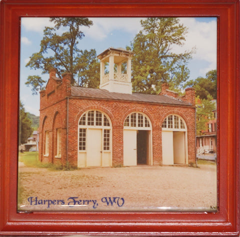 Trivet - Ceramic 6 inch Armory at Harpers Ferry,Trivet,CotswoldDownsCrafts,CotswoldDownsCrafts