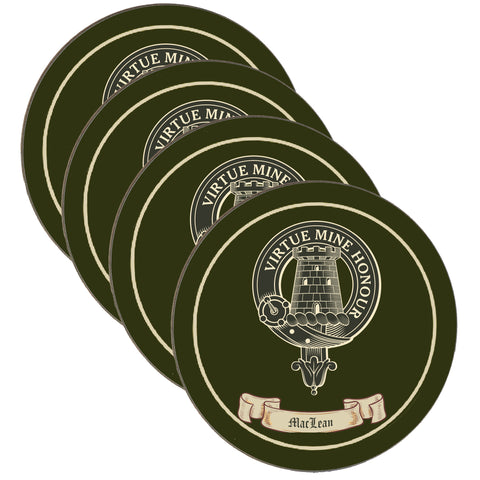 MacLean Scottish Clan Crest 4 Coaster Set,Clan coaster,CotswoldDownsCrafts,CotswoldDownsCrafts