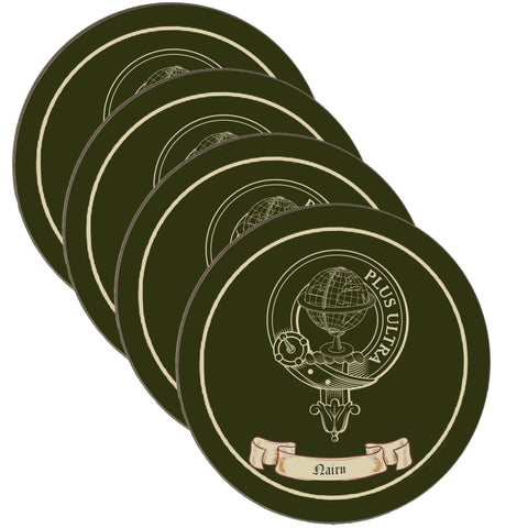 Nairn Scottish Clan Crest Drinks Coaster - Set of Four,Clan coaster,CotswoldDownsCrafts,CotswoldDownsCrafts