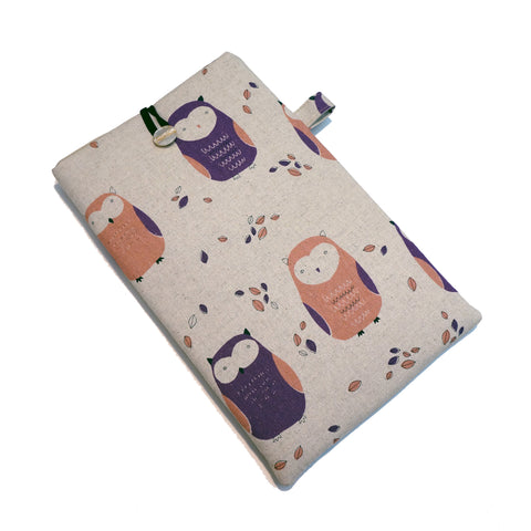Apple iPad Tablet Sleeve - Custom Case For Your Apple Ipad Tablet - Cute Owl Print Fabric,Tablet sleeve,CotswoldDownsCrafts,CotswoldDownsCrafts