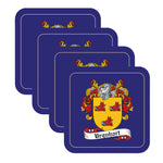 Urquhart Scottish Clan Shield Drinks Coaster - Set of Four,Clan coaster,CotswoldDownsCrafts,CotswoldDownsCrafts