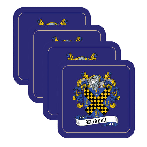 Waddell Scottish Clan Shield Drinks Coaster - Set of Four,Clan coaster,CotswoldDownsCrafts,CotswoldDownsCrafts
