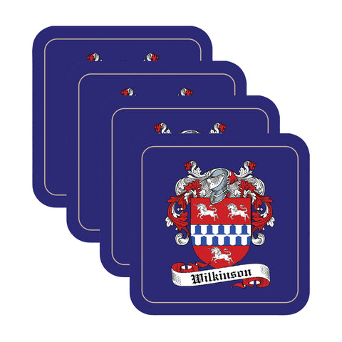 Wilkinson Scottish Clan Shield Drinks Coaster - Set of Four,Clan coaster,CotswoldDownsCrafts,CotswoldDownsCrafts