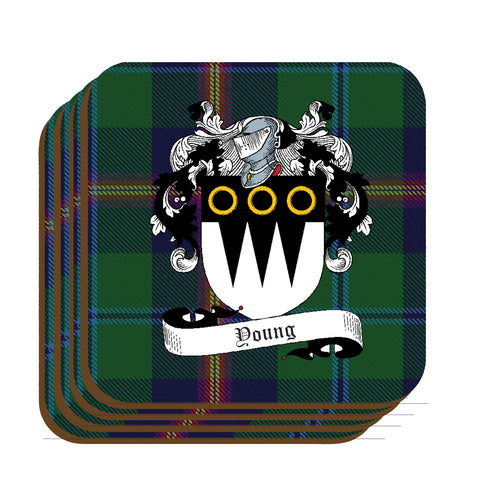 Young Scottish Clan Crest Drinks Coaster - Set of Four,Clan coaster,CotswoldDownsCrafts,CotswoldDownsCrafts
