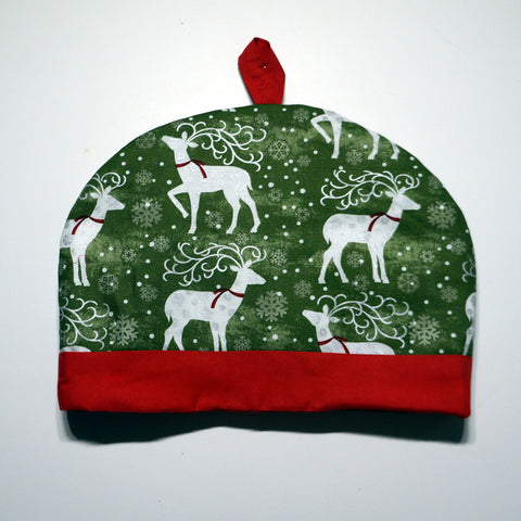 Tea Cozy - Holiday Reindeer,Tea Cozy,CotswoldDownsCrafts,CotswoldDownsCrafts